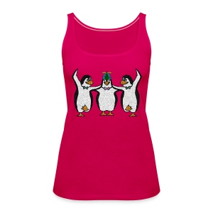 Penguin Trio Womans Sleeveless - Women's Premium Tank Top