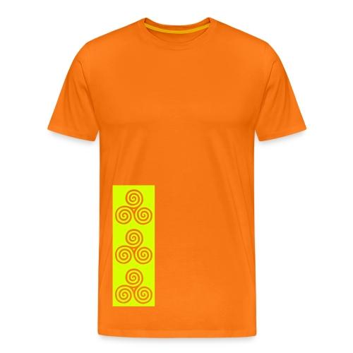 Neolithic triple spiral Celtic heritage - Men's Premium T-Shirt