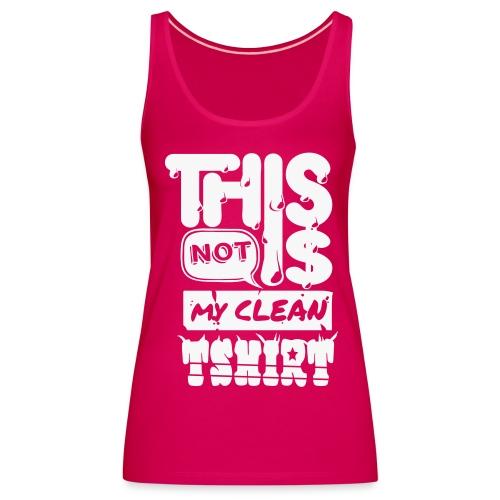 [Dirty shirt] girl rose paillettes  - Women's Premium Tank Top