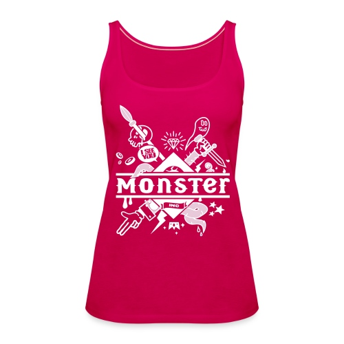 [monster girl] rose - Women's Premium Tank Top