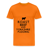 T-Shirts ~ Men's Premium T-Shirt ~ Roast Beef and Yorkshire Pudding T-Shirt