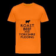 T-Shirts ~ Men's Premium T-Shirt ~ Roast Beef and Yorkshire Pudding T-Shirt