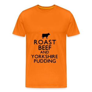 Roast Beef and Yorkshire Pudding T-Shirt - Men's Premium T-Shirt