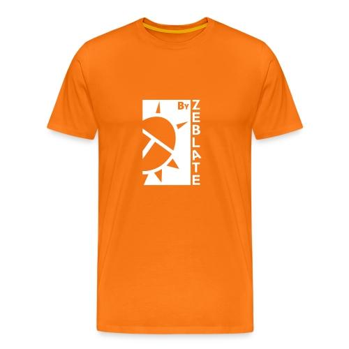 By ZeBlate Orange Blanc - T-shirt Premium Homme