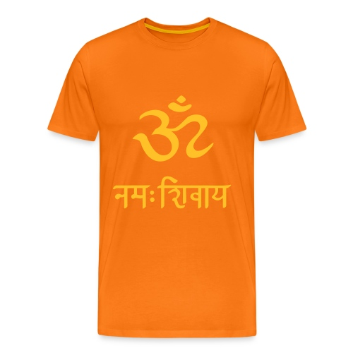 OM Namah Shivaya Sanskrit Mantra. T-Shirts für Männer, orange. Herren T-Shirt, Shirts for men - Männer Premium T-Shirt