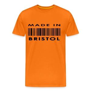 Made in Bristol barcode men's tee - Men's Premium T-Shirt