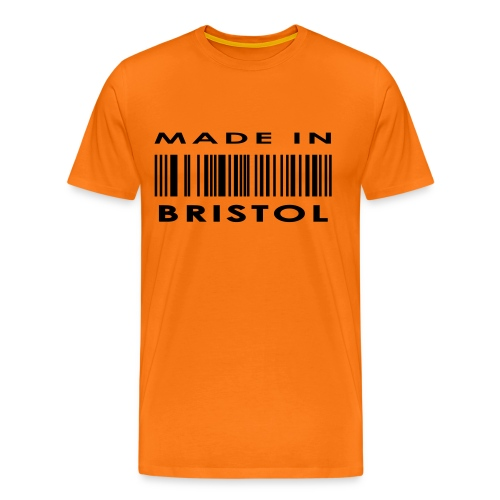 Made in Bristol barcode men's tee - Men's Premium T-Shirt