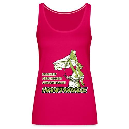 Hanfparade 2012 - Freiheit, Gesundheit, Gerechtigkeit Offizielles Pink Spaghetti-Shirt Frauen - Frauen Premium Tank Top