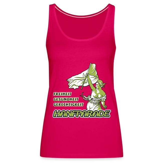 Hanfparade 2012 - Freiheit, Gesundheit, Gerechtigkeit Offizielles Pink Spaghetti-Shirt Frauen