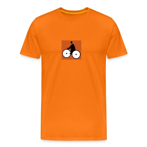 LOGO Fatman's Orange - T-shirt Premium Homme