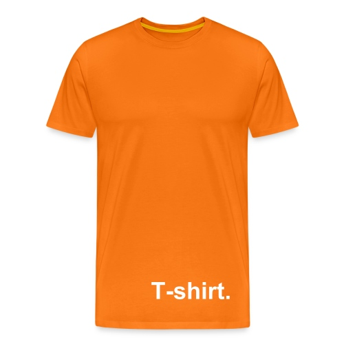 T-shirt. - Orange - Premium-T-shirt herr