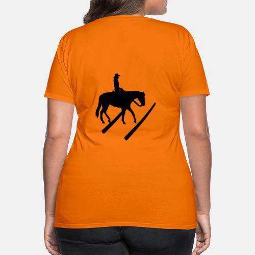 Silhouette Trail Shirt Westernreiten - Frauen Premium T-Shirt