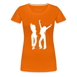 Orange / White Logo - Women's Premium T-Shirt
