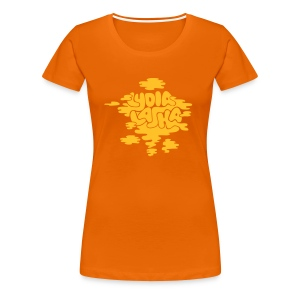 Lydia Laska orange girlie - Premium T-skjorte for kvinner