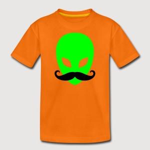 Alien mit Schnurrbart   Teenager Shirt - Teenager Premium T-Shirt