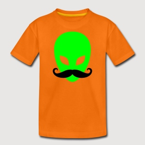 Alien mit Schnurrbart | Teenager Shirt - Teenager Premium T-Shirt