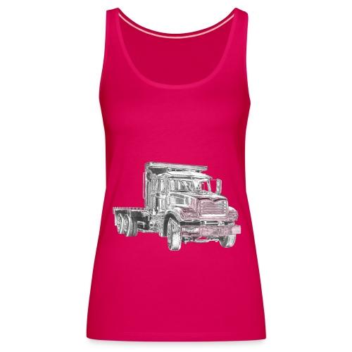 Flatbed truck - 3-axle - Women's Premium Tank Top