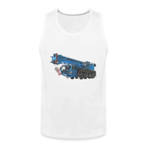 Mobile Crane 4-axle - Blue - Men's Premium Tank Top