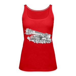 Mobile Crane 4-axle - Women's Premium Tank Top