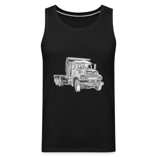 Flatbed truck - 3-axle - Men's Premium Tank Top
