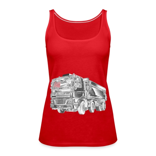 Tipper Truck 8x4 - Women's Premium Tank Top