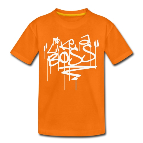 Like A Boss - Tag (Mica Weiß) Teen Tee - Teenager Premium T-Shirt