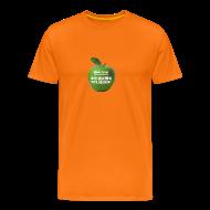 T-Shirts ~ Männer Premium T-Shirt ~ grüner Apfel