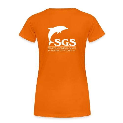 SGS Damen T-Shirt WEISS - Frauen Premium T-Shirt