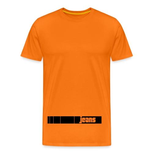 Jeans Stripe - Männer Premium T-Shirt