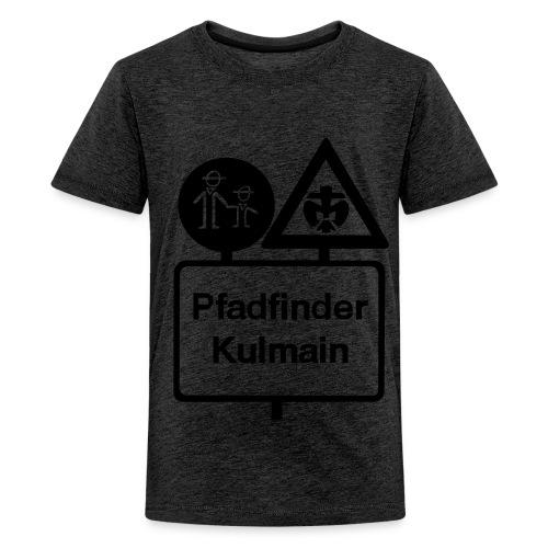 Basic Kinder Stammelogo schwarz vorne - Teenager Premium T-Shirt