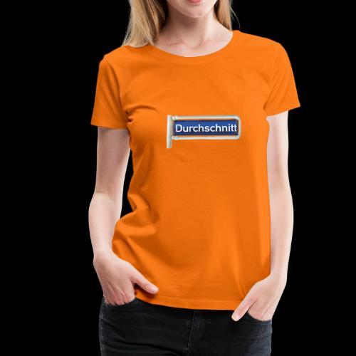 Straßenschild Durchschnitt, Hamburg-Rotherbaum - Frauen Premium T-Shirt