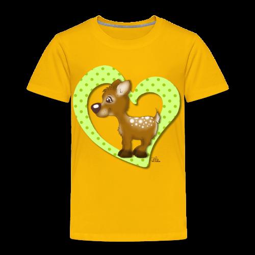 KinderShirt Kira Kitzi Limone - Kinder Premium T-Shirt