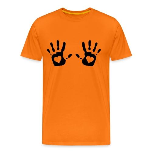 camiseta hombre dos manos - Camiseta premium hombre