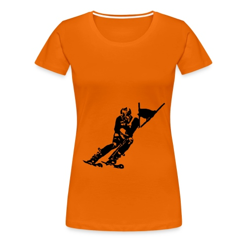 Skieur de descente - T-shirt Premium Femme