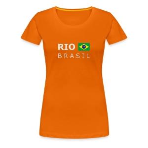 Women's T-Shirt RIO BRASIL white-lettered - Women's Premium T-Shirt