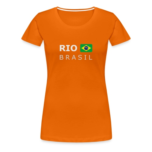 Women's T-Shirt RIO BRASIL white-lettered - Women's Premium T-Shirt