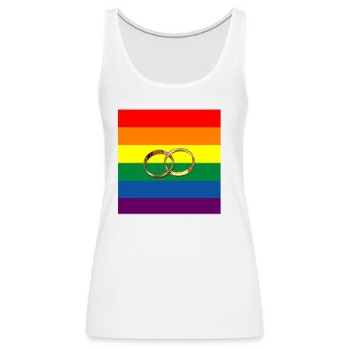 Tee-Shirt femme couleur gay et anneaux - Débardeur Premium Femme