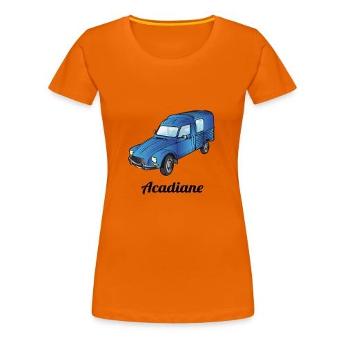T-shirt femme Acadiane bleu - T-shirt Premium Femme
