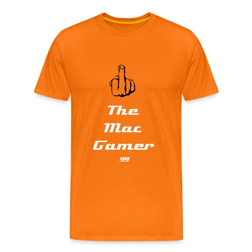 Men's Premium T-Shirt - the gamer 99 middle finger fuck you computer tee mens funny comedy webcam youtube