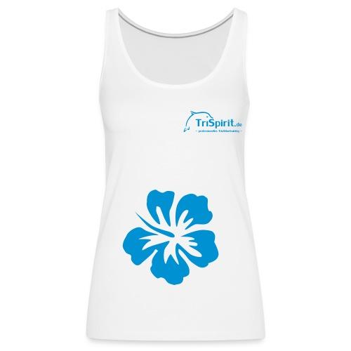 Cordula Tank mit grosser Blume, blaues Logo - Frauen Premium Tank Top
