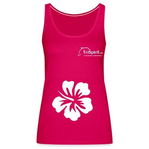 Cordula Tank mit grosser Blume, weisses Logo - Frauen Premium Tank Top