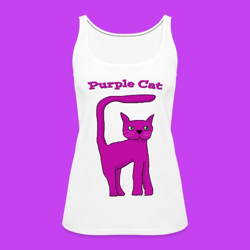 Women's Purple Cat vest - Women's Premium Tank Top