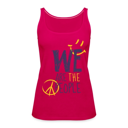 Peace Smiley dark - Women Tank Top - Frauen Premium Tank Top