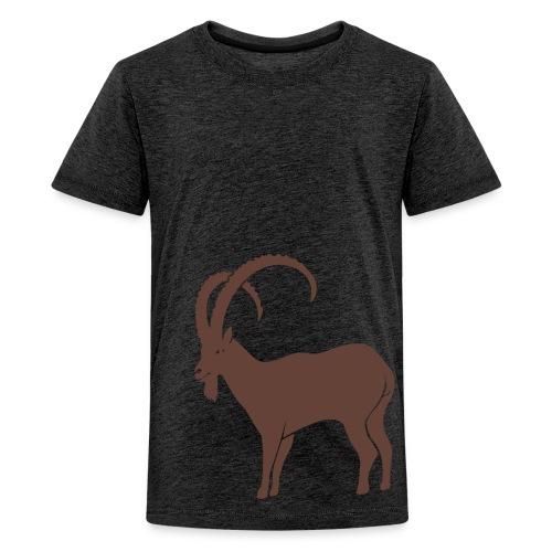 tier t-shirt steinbock alpen berge klettern ibex alps allgäu tirol bergziege - Teenager Premium T-Shirt