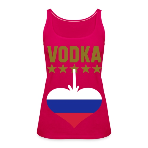 Vodka equals russia - Women's Premium Tank Top