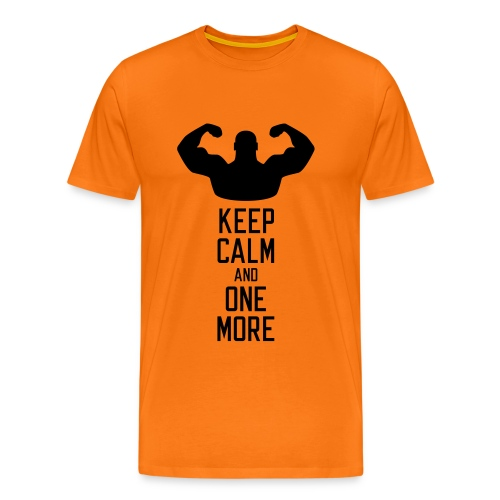 Keep Calm and One More - Men's Premium T-Shirt
