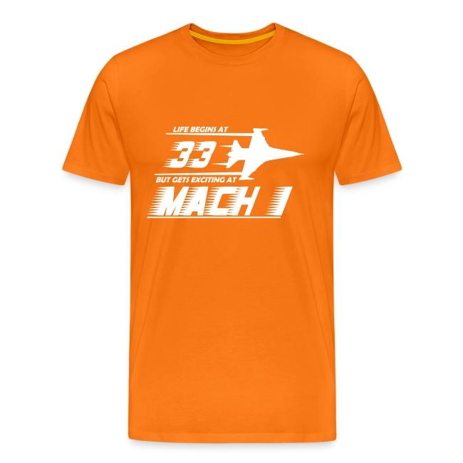 Life Begins At 33 Aircraft Birthday T Shirt