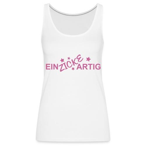 Einzickartig - Glitzer Pink - Frauen Premium Tank Top