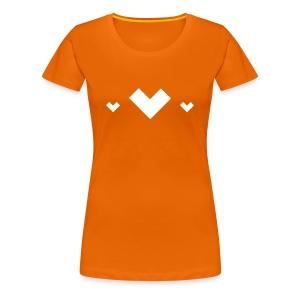 Pixel Hearts - Vrouwen Premium T-shirt