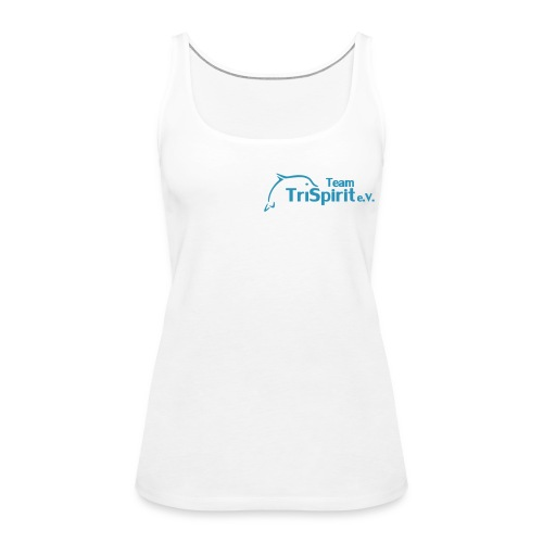 Cordula Tank blaues Logo no print on back - Frauen Premium Tank Top